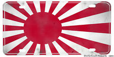 Japanese Rising Sun Battle Flag Aluminum License plate