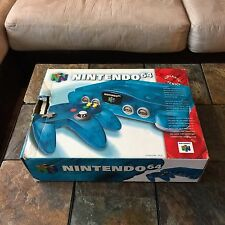 Nintendo 64 N64 Funtastic Ice Blue Console Complete In Box TESTED & WORKING!