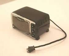Toaster Oven - Black w/ Cord dollhouse miniature plastic-resin 1/12 scale T8474