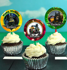 12 Birthday The Lego Batman Movie Inspired Party Picks, Cupcake Toppers #1