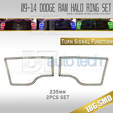 09-16 Ram Bluetooth Angel Eyes LED RGB Headlight Halo Ring+Turn Signal Set