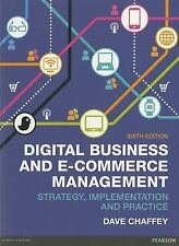Digital Business and e-Commerce Management by Dave Chaffey (2014, Paperback, New