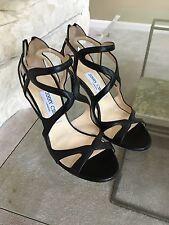 NIB Jimmy Choo Leslie 85 Cutout Leather Sandals, 36, $875