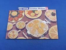 RECIPE FOLD OUT FLYER TEA BISK LENTEN DISHES RECIPE BOX OFFER COUPON