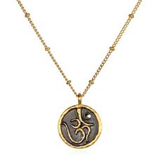 Satya Jewelry NEW! 18kt Gold Plated & Gunmetal Sacred Om Necklace