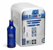 NEW Star Wars R2-D2 Mini-Fridge 6-Beer/Soda Cooler/Warmer Home/Car/Office DROID