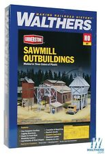 3144 Walthers Cornerstone Sawmill Lumber Yard Outbuildings HO scale