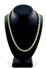 "Large Yellow Gold Ion Plated Stainless Steel Men's Rope Chain (6.0 mm 13 g, 24"")"
