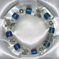 New Gift Boxed Colour Changing Mysterious Mood Bead Butterfly Flower Bracelet