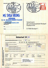 SWEDEN FERRY MS SVEA VIKING SHIPS CACHED CARD