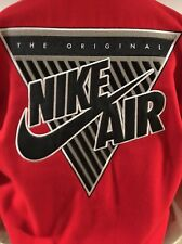NEW $550 Nike Air Heritage Destroyer Leather Varsity Jacket Black S