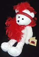 "Red Hat Society Chantilly Lane Musical Bear I wanna be loved by you 18"" Tall"