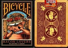 BICYCLE BACON LOVERS DECK OF PLAYING CARDS BY COLLECTABLE & USPCC MAGIC TRICKS