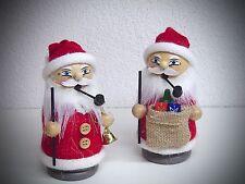 juego de 2 Fumador Papá noel Santa colores Tricotar muñecos 12 cm 40400