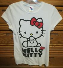 HELLO KITTY XS Small Women's JR Junior Shirt T-shirt Tee Top White Bows Japan