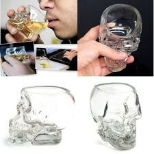 Crystal Cool Skull Head Vodka Whiskey Shot Glass Cup Drinking Ware Home Bar