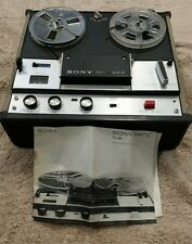 sony tc 105 reel to reel with original manual. for parts.  Only partially tested
