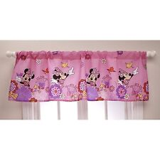 Disney Minnie Mouse Fluttery Friends Window Valance Toddler Girls Bedroom Pink