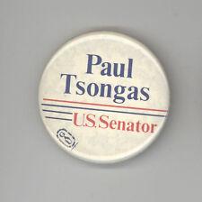 PAUL TSONGAS US Senate MASSACHUSETTS Political PIN Button PINBACK Badge MASS MA