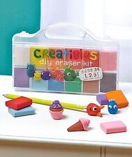 Creatibles DIY Erasers by International Arrivals 161-001 Erasers Craft Kit NEW