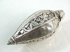 ANTIQUE ISLAMIC INDO PERSIAN or MUGHAL SILVER SCENT PERFUME BOTTLE 18C sterling