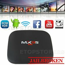 New 8G MX95 Mini Smart OTT TV Box Android Quad Core 1080P WIFI 3D Online Movies