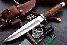 CFK USA Custom Handmade FULL TANG D2 ARMY RANGER Combat Fighter Military Knife