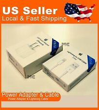 New Original OEM Apple iPhone 6 PLUS 5S Lightning USB Data Cable & Wall Charger