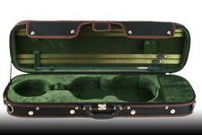 Petz rechteckiges 4/4 Violinetui, Geigenkoffer, Violin Koffer Case, schwarz/grün