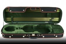 Petz rectangular 4/4 violinetui, geigenkoffer, violin maleta case, negro/verde