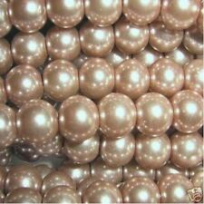 100 pieces 8mm Glass Pearl Beads - Coffee - A1024