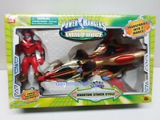 Power Rangers Bandai Time Force QUANTUM STRATA CYCLE w/ Action figure Boxed 2000