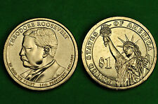 2013-P & D  BU Mint State (Theodore Roosevelt ) US  Presidential One Dollar Coin