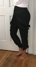 ISSEY MIYAKE PLEATS PLEASE WOMEN WIDE LEG RELAXED HAREM BLACK PANTS SZ 3