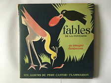 FABLES DE LA FONTAINE EN IMAGES LUMINEUSES 1950 BELVES ALBUM PERE CASTOR