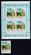 Argentinien postfrisch MiNr. 1322 und Kleinbogen  Fußball WM 1978