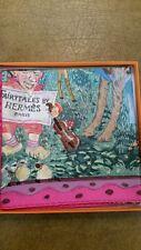 Hermes Scarf Silk Twill 90 Dumas' Grail, Fairytales  Fabulous Fuchsia colorway!
