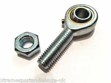 M6 6mm MALE LEFT HAND THREAD ROSE JOINT TRACK ROD END COMPLETE WITH LOCKNUT
