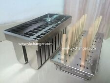 Ice cream popsicle mold for freezer use only stainless steel high quality