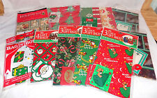 New Christmas Wrapping Paper, Gift Bags, Santa/Snowman/Bears Vintage Rare NEW
