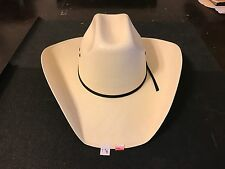 "BUSINESS LIQUIDATION: Texas Hat Co 10X Tan ""Ponderosa"" Straw Cowboy Hat 7 3/8"