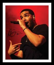 DRAKE AUTOGRAPHED SIGNED & FRAMED PP POSTER PHOTO