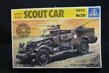 XZ111 ITALERI 1/35 maquette voiture 231 Scout Car White M3A1 D Day 50 th USA