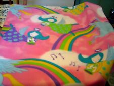 UNICORNS, ANGELS & RAINBOWS POLAR  FLEECE BABY CRIB  BLANKET NEW HANDMADE