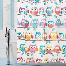 Owl Pattern Bath Shower Curtain EVA Waterproof Home Kids Bathroom Decor 180x180