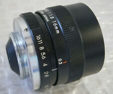 Sony TV Lens 1:1.8 16 mm No.11357 with Lens Cap