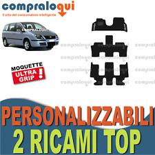 per FIAT ULYSSE (02-10) 3 FILE | TAPPETINI tappeti AUTO SU MISURA + 2 RICAMI TOP