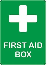 sticker first aid box health safety emergency door decal macbook self adhesive