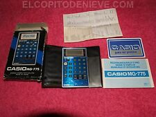 GAME & WATCH CALCULATOR CASIO MG-775 AS NEW COMO NUEVA