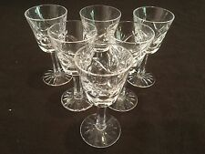 SET OF 6 WATERFORD CRYSTAL CORDIAL GLASSES  IN THE ASHLING PATTERN